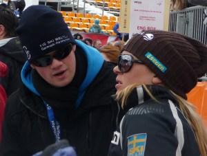 Daniel Noé und Anja Pärson. Quelle: Pistenblogger