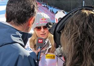 Lindsey Vonn beim Schweizer Fernsehen