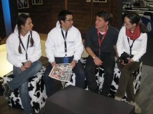 Martin (2. von links) inspiziert Garmisch. Quelle: Pistenblogger
